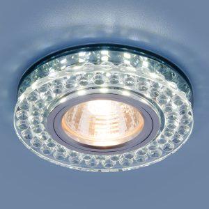 Точечный светодиодный светильник Elektrostandard 8381 MR16 CL/SBK прозрачный/дымчатый
