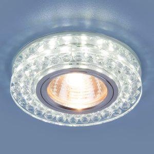 Точечный светодиодный светильник Elektrostandard 8381 MR16 CL/SL прозрачный/серебро
