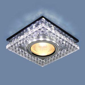 Точечный светодиодный светильник Elektrostandard 8391 MR16 CL/SBK прозрачный/дымчатый