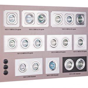 POS-материал Elektrostandard Секция для сборного стенда: 9 карданных светильников 1011