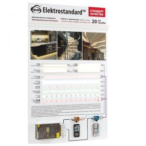 POS материал Elektrostandard Стенд демонстрационный для светодиодной ленты и профилей